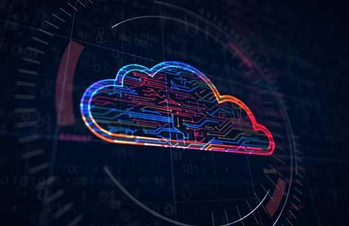 computer cloud futuristic concept icon